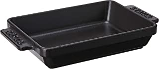 STAUB Cast Iron Mini Rectangular Baker, 5.75-inch, Black Matte
