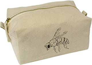 'Honey Bee' Canvas Wash Bag / Makeup Case (CS00018373)