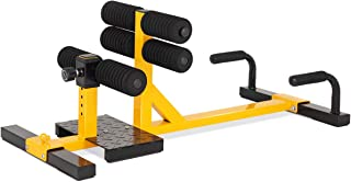GYMAX Sissy Squat Machine, 3-in-1 Deep Sissy Squat Machine with Strap Circles & Adjustable Height, Perfect for Push-up, Sissy Squat & Abs Training, Workout Equipment for Home, Gym