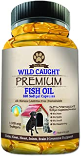 Omega 3 Wild Caught Fish Oil for Dogs EPA DHA, Higher in Omega 3 Fatty acids then Salmon oil, Pure No GMO, All Natural Foo...