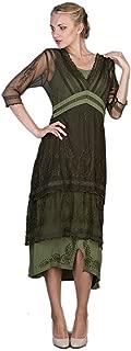 Women's Titanic Vintage Style Emerald Wedding Dress