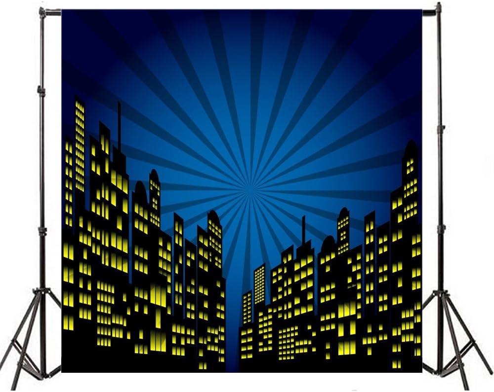 Yeele 4x4ft Superhero City Daily bargain sale Photography Cart Backdrop Vinyl In stock Humor