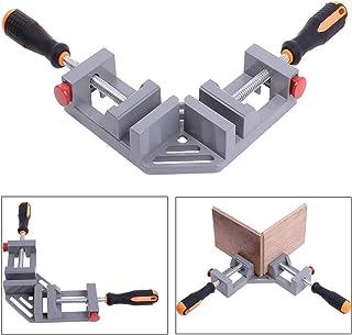 YWSHF コーナークランプ 木工 溶接 90度 diy 大型 直角固定 ダブルハンドル 作業 工具 調整可能 定規 クイック l字 直角クランプ 2個 セット