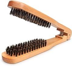 Amariver DIY Salon Hairdressing Hair Straightener Wooden Anti-static Dual-Brush Comb