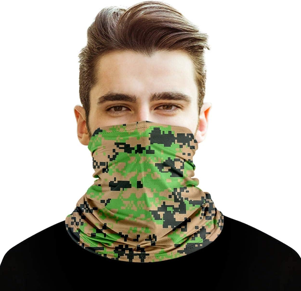 Xiao Face Cover Neck Gaiter Bandnan Face Shield Cooling Reusable Balaclava for Camping Running Cycling Fishing Sport Hunting