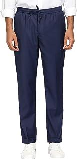 PJ PAUL JONES Men's Stretch Modern-Fit Flat-Front Pant Elastic Waistband Drawstring Pant
