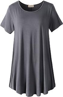 LARACE Women Short Sleeves Flare Tunic Tops for Leggings...
