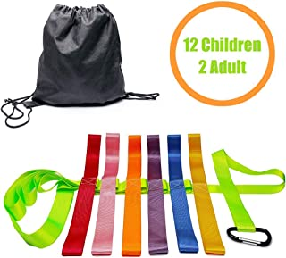 Safety Walking Rope with Colorful Handles for Daycare Teacher and Schools Designed (12 Children and 2 Adults)
