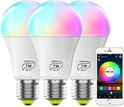 MagicLight Smart WiFi Light Bulb, No Hub Required, Dimmable Multicolor A19 E26 7W (60w Equivalent) Smart Bulb, Compatible ...