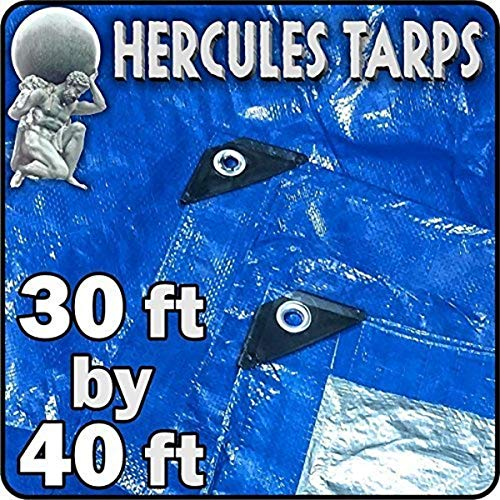 EasyGO Tarp2-30x40 Hercules Shelter Cover Waterproof Tarpaulin Plastic Tarp Protection Sheet for Contractors, Campers, Painters, Farmers, Boats, Motorcycles, Hay Bales-30'x40', 30x40
