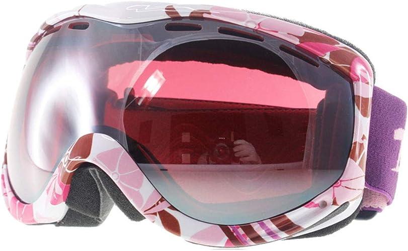 Yxx max Lunette de Soleil Lunettes de Ski Prougeection UV Haute qualité Double Couche Anti-buée et Anti-Neige Grand Miroir sphérique