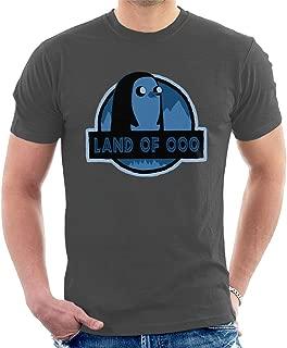 Adventure Time Jurrasic Park Land of Ooo Gunter Men's T-Shirt