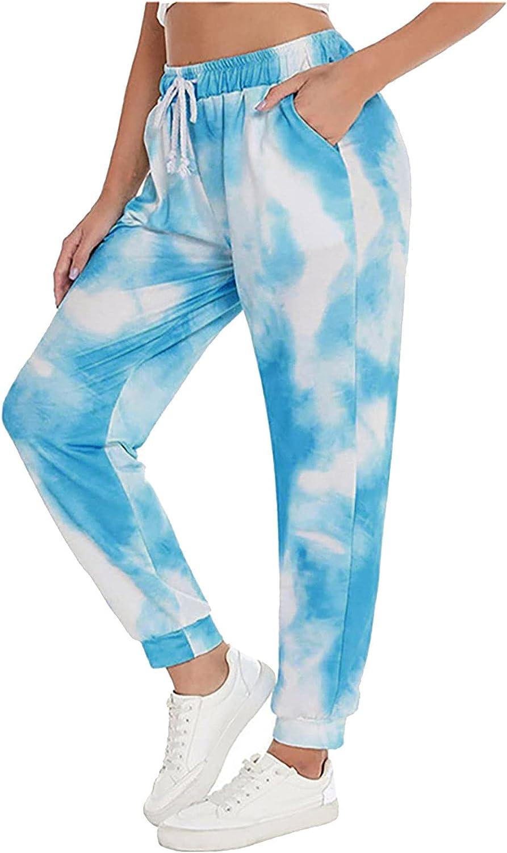 miqiqism Harem Pants for Women Hippe Comfy Casual Soft Elastic Waist Tie Dye Print Pants Loose Wide Leg Trousers Plus Size