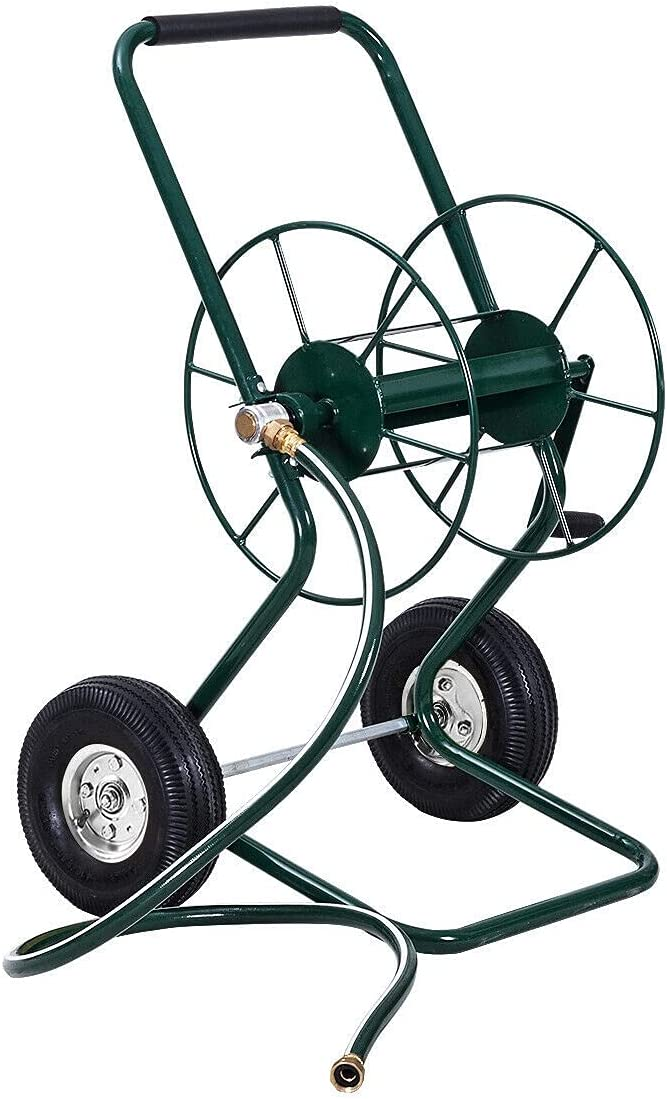 Max 84% OFF DXXWANG Max 71% OFF Garden Wheeled Hose Reel Out Truck Cart Frame Steel