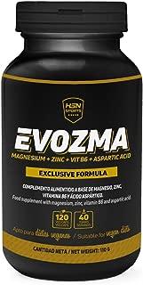 ZMA de HSN Sports | Evozma | Zinc Magnesio Vitamina B6 | Mejora el Entorno Hormonal elevando los Niveles de Testosterona Naturalmente, Vegano, Sin Gluten, Sin Lactosa, 120 cápsulas vegetales