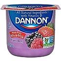 Dannon Blended Whole Milk Yogurt Mixed Berry 5.3 oz. Whole Milk Yogurt Blended with Sweet Fruit Pure