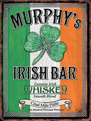 MAIBU Murphy's - Cartel de metal para decoración de hogar, bar, bar, garaje, 8 x 12 pulgadas