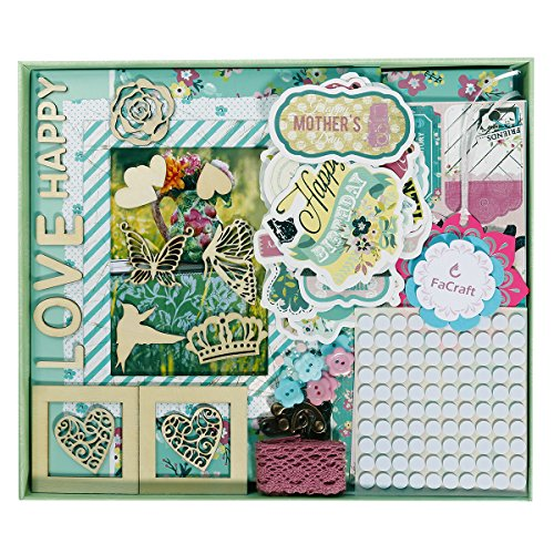 FaCraft Scrapbook Kit for Teenage Girls (8x8