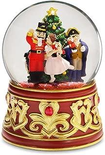 The San Francisco Music Box Company Nutcracker with Jeweled Base Water Globe