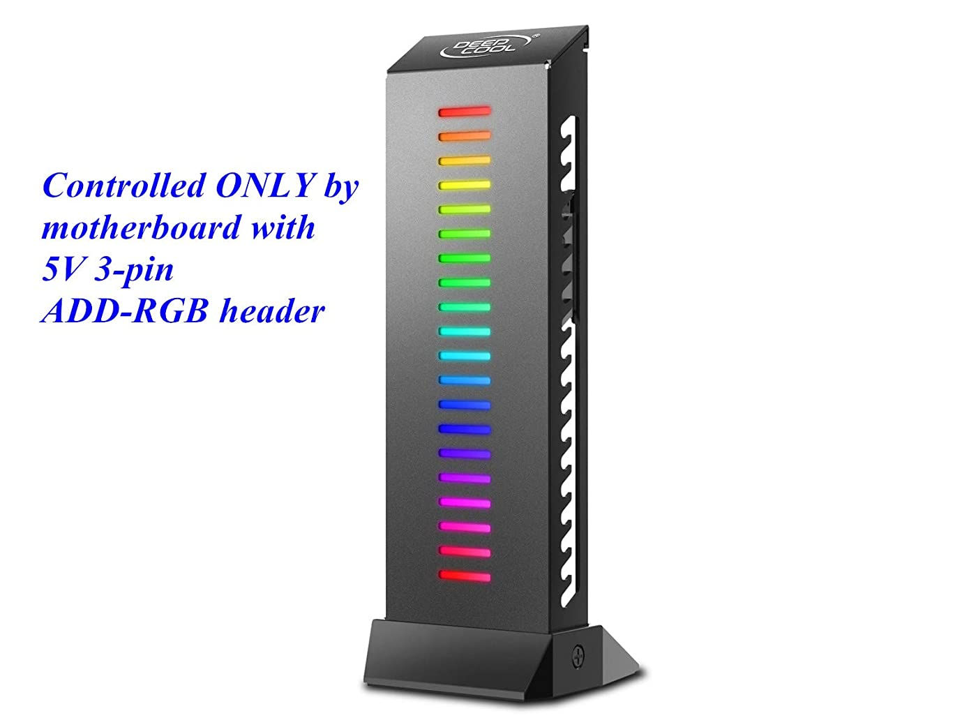 DEEPCOOL GH-01 A-RGB Graphics Card GPU Brace Support Holder, Addressable RGB, ONLY Controlled by Motherboard with 5V 3-pin ADD-RGB Header, Support up to 5Kg Graphics Card, Wire Hiding