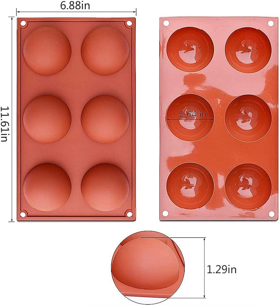 Mini Teacake 3 Stck Silikon Backform//Muffinform f/ür Muffins f/ür Ihre Schokoladendesserts Eisbomben NALCY Kleine Halbkugel Silikonform mit 24 Vertiefungen Backform Backwerkzeug