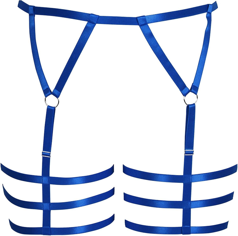 Brand Cheap Sale Venue Women Plus Size Limited time sale Lingerie Body Harness Goth Garter Leg Punk Waist