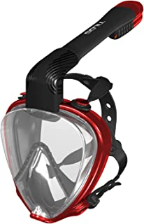 Tilos CE Approved Element Panoramic 180° View Full Face Snorkel Mask Adult Kids, with Anti-Fog Anti-Leak Snorkeling Design, Made in Thailand, Explore The Vast Ocean Water