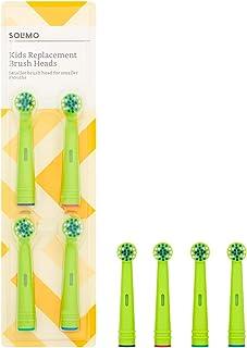 comprar comparacion Marca Amazon -Solimo Cabezales de cepillo de dientes Kids, 2 packs de 4 cabezales
