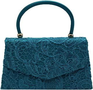 Wiwsi Women Evening Bridal Party Elegant Lace Tote Clutch Handbag Various Color