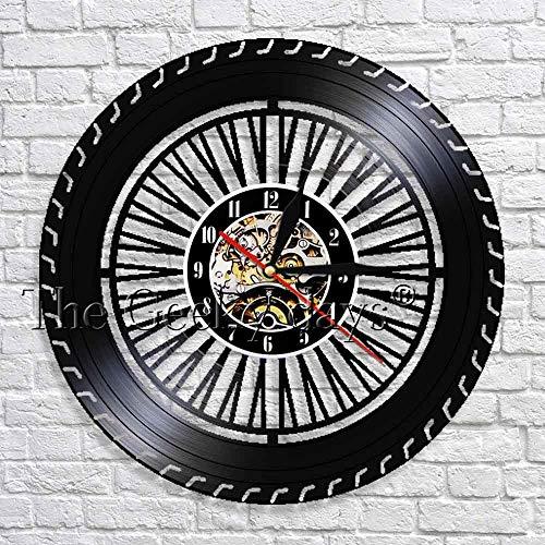 wtnhz LED decoración Redonda Reloj de Tiempo Disco de Vinilo Vintage Reloj de Pared artístico Reloj decoración del hogar Ideas niños