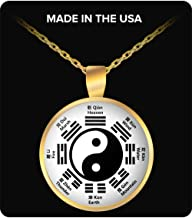Yin Yang Necklace - Tai Chi Ba Gua Kung Fu - Martial Arts Chinese Character Language - Chinese New Year Gift for Feng Shui Taichi Chuan Masters and Students - Good Fortune Taoism Zen Balance Neck Lace