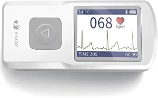 EMAY Bluetooth Portable ECG/EKG Monitor (for iPhone & Android, Mac & Windows) | Wireless Personal ECG Monitor Works with S...