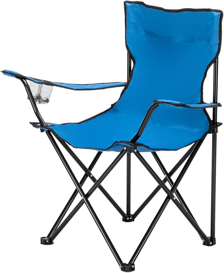 Portable Folding Camping Chair 1 Cheap mail order shopping year warranty Heavy Frame Steel Co Support Duty