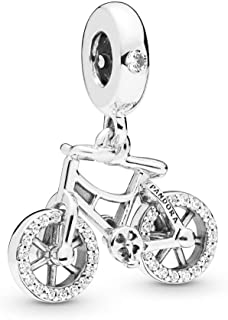 Brilliant Bicycle 925 Sterling Silver Charm - 797858CZ