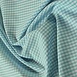 Stoff am Stück Stoff Stoff Baumwolle Vichy Karo türkis
