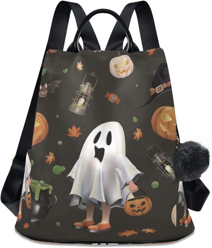 Halloween Ghost Max 75% OFF Dot Shoulder Backpack Bag OFFicial shop Daypack Student Travel