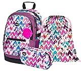 Juego de mochila escolar, 3 piezas, mochila escolar a partir de 3ª clase, mochila con correa para el pecho, mochila ergonómica