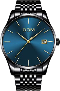Men's Luxury Watches Ultra Thin Wrist Watch for Men Fashion Waterproof Analog Date Watch with Stainless Steel Band