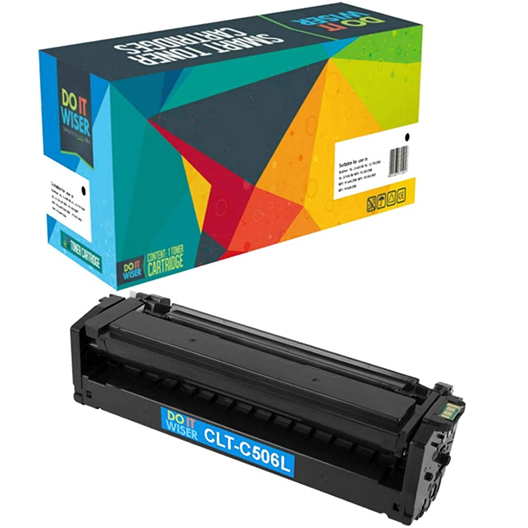 Do it Wiser Compatible High Yield Cyan Toner Cartridge for Samsung CLP 680 CLP-680DW CLP-680ND CLX-6260 CLX-6260FW CLX-6260ND CLX-6260FD - CLT-C506L - 3,500 Pages