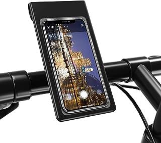 Outangel 自転車 スマホホルダー バイク 防水 防塵 360度回転 オートバイ スマートフォン 防水バッグ に適用iphone android 多機種対応 脱着簡単 強力な保護