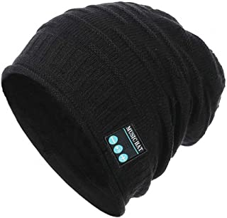 931626803b7dc PRETTYGARDEN Unisex Wireless Slouchy Headphone Beanie Hat