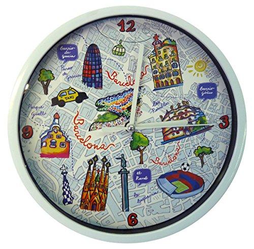 Nadal Uhr Symbole Spanien, Mehrfarbig, 20x 20x 3,45cm Medium