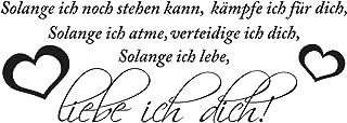 WANDKINGS Wandaufkleber Wandtattoo - 50 x 18 cm - Spruch Sol