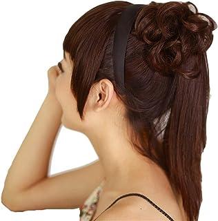 カチューシャ鬓齐刘劉ハイ韓国Unseeable前髪ウィッグピースヨーロッパとザ・ヘアエクステンションウィッグDistaff ZHML (Color : Dark brown)