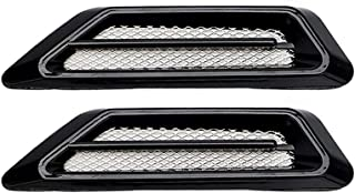 Auto Lufteinlässe Außen Dekorative,MoreChioce 1 Paar Universal Auto Styling Luftstrom Kotflügel Belüftungsabdeckungen Motorhauben Abdeckungen,Schwarz