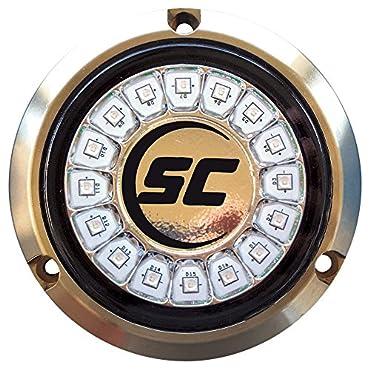 Shadow-Caster Great White Single Color Underwater Light 16 LEDs Bronze, SCR-16-GW-BZ-10
