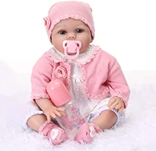 CHAREX Lifelike Reborn Baby Dolls Lucy, 22 inch Soft Vinyl Weighted Realistic Girl Doll, Children 9 Pieces Gift Set for Ages 3+
