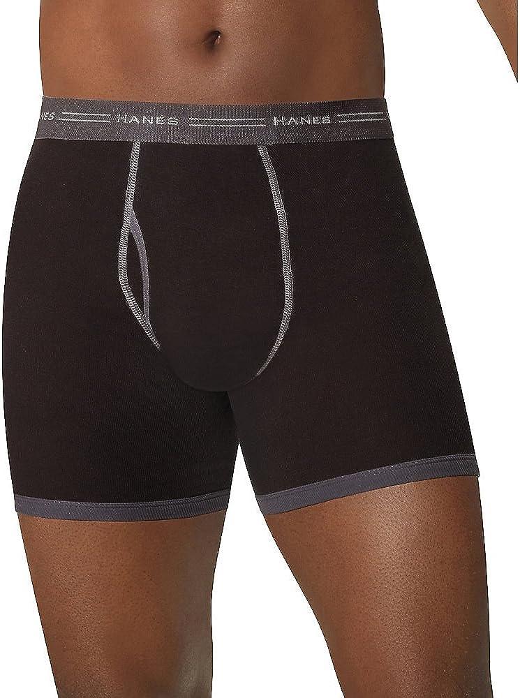 Hanes Men's Ringer Boxer Briefs 5-Pk, Assorted colors, Medium
