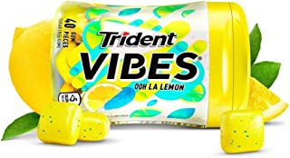Trident Vibes Ooh La Lemon Sugar Free Chewing Gum - 6 Bottles (240 Pieces Total)