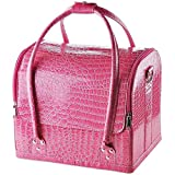 AW Pink Crocodile Makeup Train Bag...